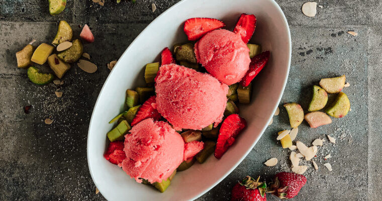 Rhubarb-Strawberry-Sorbet